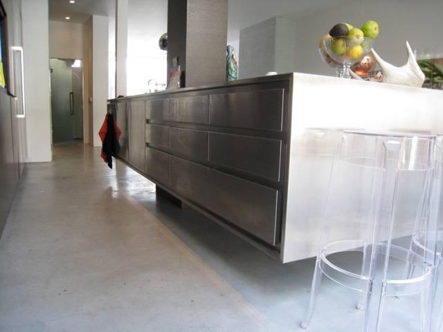 Verbouwing amsterdam zuid keuken kookeiland vloer open haard - Open keuken met kookeiland ...